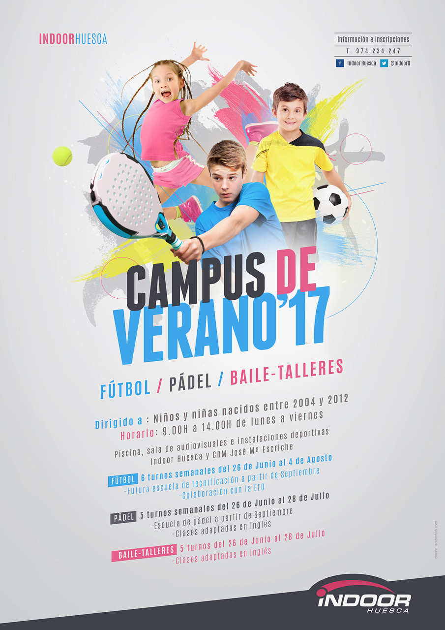 Cartel Campus de Verano Indoor 2017