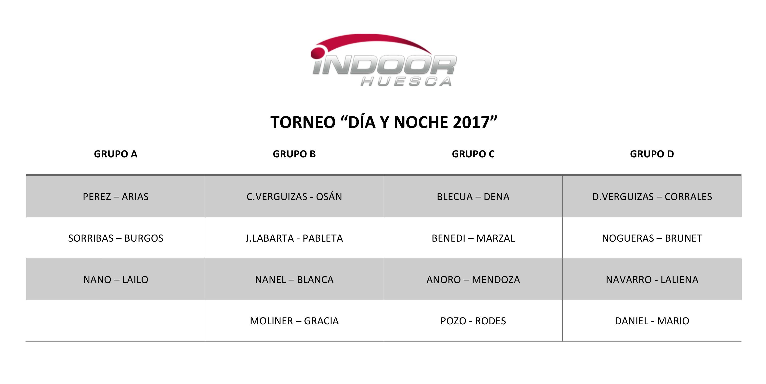 Grupos Torneo Padel Dia y Noche